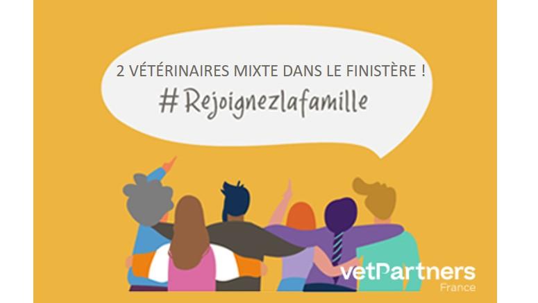2 Vétérinaires mixtes dans le Finistère – Clinique Saint Herbot