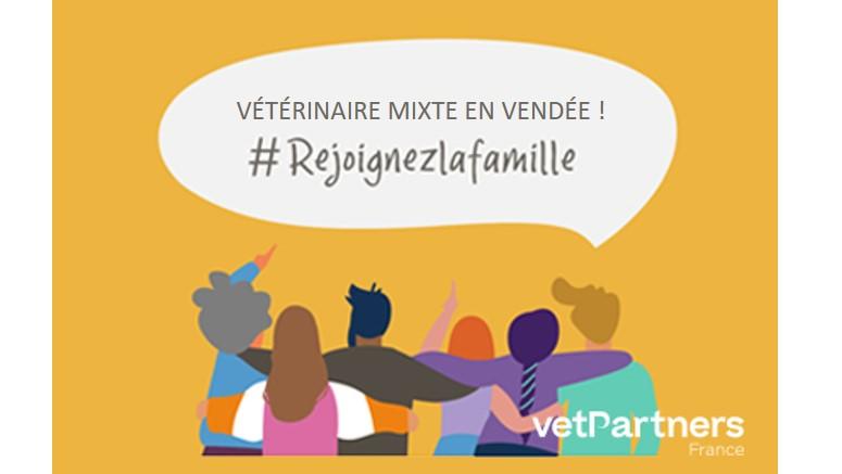 On recrute un.e vétérinaire mixte en Vendée ! CDI Temps Plein